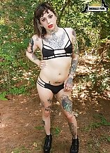 Tattooed TS Trixie has a hot body, small tits, a great ass and a hard uncut cock! Watch as transsexual Trixxy gets fucked hard by Chance Stallion!